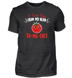 Ich liebe dich Tomaten Kopf T-Shirt Basic Shirts, Tees, Mens Tops, Fashion, Tomatoes, Love, Cotton, Moda, T Shirts