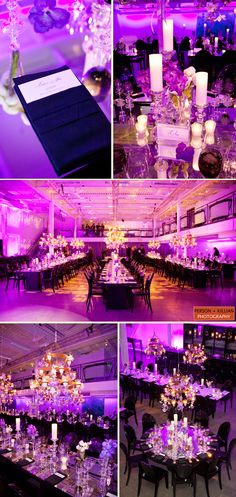 Ridiculously gorgeous lighting and design! (Design by A Catered Affair, Venue is Artists for Humanity)