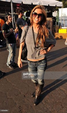 Audrina Patridge attends the 2009 KROQ Weenie Roast Y Fiesta at the Verizon Wireless Amphitheater on May 16, 2009 in Irvine, California.