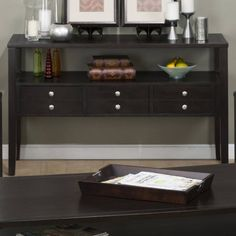 Hamilton Contemporary Sofa Table w/3 Drawers