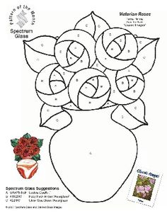 stained glass hearts patterns | Victorian Pattern Glass - Pattern Collections
