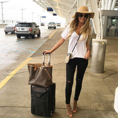 Love this casual look! White tee black skinnies and booties