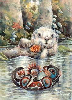 Otter Happiness By Jody Bergsma.