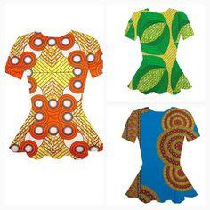 African Clothing African Print Shirt. Short by AllThingsAfrican1