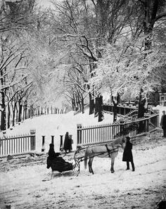 Christmas in Boston, USA in 1875