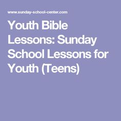 Need Youth Bible Lessons? Find FREE Sunday School Lessons for Youth (Teens). Try these FREE Printable Bible Study Lessons in Youth Group or in Sunday School. Teen Sunday School Lessons, Teen Bible Lessons, Sunday School Games, Sunday School Classroom, Bible Object Lessons, Kids Bible, Youth Group Lessons, Bible School Crafts, Bible Crafts