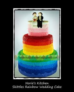 Nories Kitchen - Skittles Rainbow Wedding Cake | Flickr - Photo Sharing!