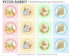 Party-Tales: ~ Free Printables ~ Peter Rabbit Cupcake Toppers...