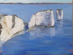 Small oil of Old Harry Rocks, by Podi Lawrence