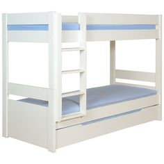 Buy Stompa Originals Multi Bunk Bed with Trundle from our Children's Beds range at John Lewis & Partners. Bunk Bed Sets, Bunk Bed With Trundle, Childrens Bunk Beds, Modern Bunk Beds, Modern Bedding, Luxury Bedding, Trundle Mattress, Pull Out Bed, Extra Bed