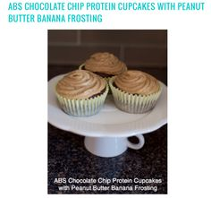 What happens when #cupcakes and #protein collide? MAGIC! These chocolate chip  protein cupcakes with peanut butter banana frosting are so good, it should be a crime! Tantalize your taste buds with these #delicious, #healthy, & #guilt-free snacks tonight! Click the image for recipe.