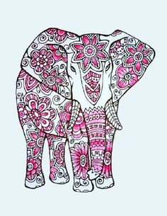 New to LittleShopTreasures on Etsy: Elephants -3 Adult Coloring Pages: Instant Digital Download (5.00 CAD)