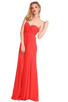 2016 Sweetheart Red Chiffon Ruched Floor Length Sleeveless Homecoming / Evening / Prom Dresses 4111
