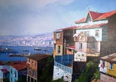 Resultado de imagen para cuadros chilenos de valparaiso