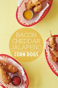 "Let's make Bacon Cheddar Jalapeño Corn Dogs -- because ""corn dogs are heaven."" Thanks, Jonathan @candidappetite. http://thestir.cafemom.com/food_party/188117/10_diy_carnival_foods_thatll"
