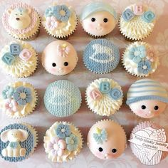 #babyface #babyshower #cupcakes -Truly Madly Sweetly Cupcakes