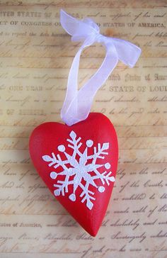 Wooden handpainted Christmas ornament.