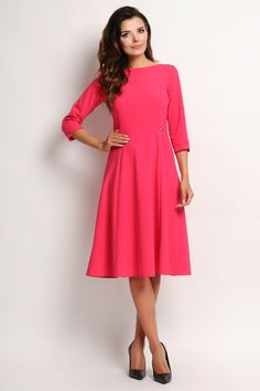 Pink Dress. Śliczna rozkloszowana sukienka, różowa, idealna na wiele wyjątkowych okazji. Cena 149 zł  http://besima.pl