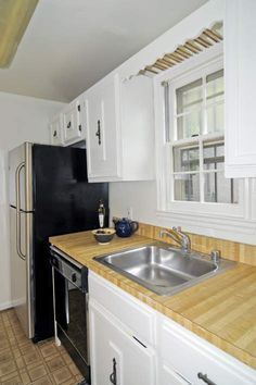"SO glad that this ""prep a dated kitchen for resale"" experience didn't tear out the original cabinetry!"