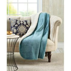 "Electric Throw Blanket Walmart Entrancing Better Homes And Gardens Velvet Plush To Sherpa 50"" X 60"" Throw"