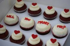 Will you marry me? Cupcakes