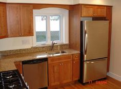 Small Modern Kitchen by Millwork, Inc.