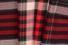 Britex Fabrics - Cherry & Kelly Green Large Plaid Brushed Cotton - New!