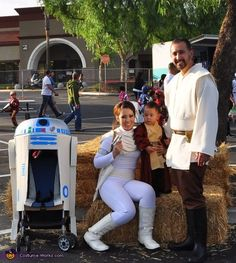 family costumes | Star Wars Family - Homemade costumes for families  sc 1 st  Pinterest & Coolest Homemade R2D2 Stroller Costume | Costumes | Pinterest | Star ...