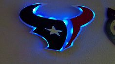 Houston Texans inspired 3D Lighted Sign  by PickersParadise2011