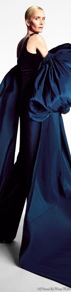 Ashi Studio, Runway, Ruffle Blouse, Gowns, Couture, Color Blue, Beautiful, Design, Women
