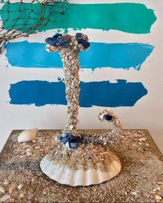MONOGRAM CAKE TOPPER Beach Wedding Seashell Cake by OHONEFINEDAY