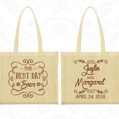 Personalized Tote Bags, Tote Bags, Wedding Tote Bags, Wedding Welcome Bags, Custom Tote Bags, Wedding Bags, Wedding Favor Bags (384)