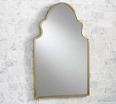 Stella Powder Room Mirror #potterybarn