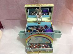 Enchantmints Pegasus music jewelry box. full of girl's jewelry, mood ring! #Enchantmints