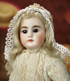 The Memory of All That - Marquis Antique Doll Auction: 239 Sonnebeg Bisque Doll with Closed Mouth