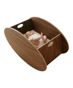 Walnut So-Ro Single Cradle & Table