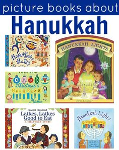 Hanukkah Books For Kids.by Allison McDonald even though we celebrate Christmas I like to teach my kids about other traditions and holidays and picture books are a perfect way to start. Here are 8 Hanukkah picture books to check out. Hanukkah For Kids, Feliz Hanukkah, Hanukkah Crafts, Christmas Hanukkah, Hannukah, Happy Hanukkah, Christmas Books, Kwanzaa, Preschool Christmas