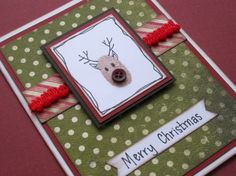 A how to on how to create these Simple Christmas Cards with holiday button embellishments. Christmas Buttons, Simple Christmas Cards, Merry Christmas, Button Crafts, Creative Inspiration, Embellishments, Wraps, Gift Wrapping, Crafty