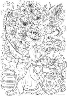 Presents - Printable Adult Coloring Page from Favoreads (Coloring book pages for adults and kids, Coloring sheets, Colouring designs) Abstract Coloring Pages, Flower Coloring Pages, Mandala Coloring Pages, Coloring Pages To Print, Free Coloring Pages, Coloring Books, Coloring Sheets, Kids Coloring, Printable Adult Coloring Pages