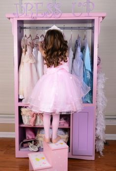Katie's Dress Up Center -re-purposed tv cabinet!