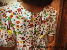 vestido precioso de niña #dress #girldress #peterpan #cuellopeterpan #geraniumdress #madebyrae #sewing #sewinporn