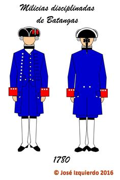 Milicias Disciplinadas de Batangas,  1780