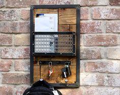 Hall d'entrée organisateur courrier | Mur industriel clés porte | Sac à dos dortoir | Écharpe crochet mural porte manteau | Tablette porte de lunettes de soleil
