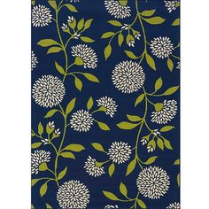 Blue/ Green Floral Outdoor Area Rug (7'10 x 10'10) - Overstock Shopping - Great Deals on Style Haven 7x9 - 10x14 Rugs