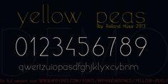Image for yellow peas demo font