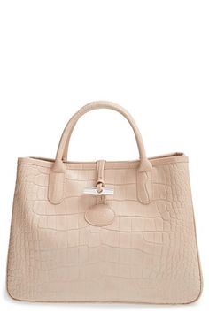Longchamp 'Small Roseau Croco' Shoulder Tote available at #Nordstrom Item #1133445 $450