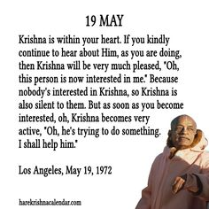Prabhupada Quotes For The Month of May 19
