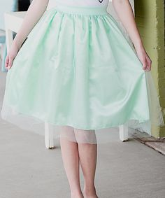 Cents of Style Mint Tulle Flare Skirt - Women | zulily