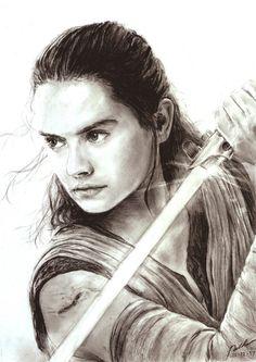 The Last Jedi - Rey by on DeviantArt - Trend Disney Stuff 2019 Nave Star Wars, Rey Star Wars, Star Wars Fan Art, Reylo, Star Wars Desenho, Images Star Wars, Star Wars Drawings, Galaxy Art, Last Jedi