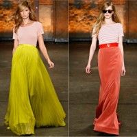 Colorful long skirts